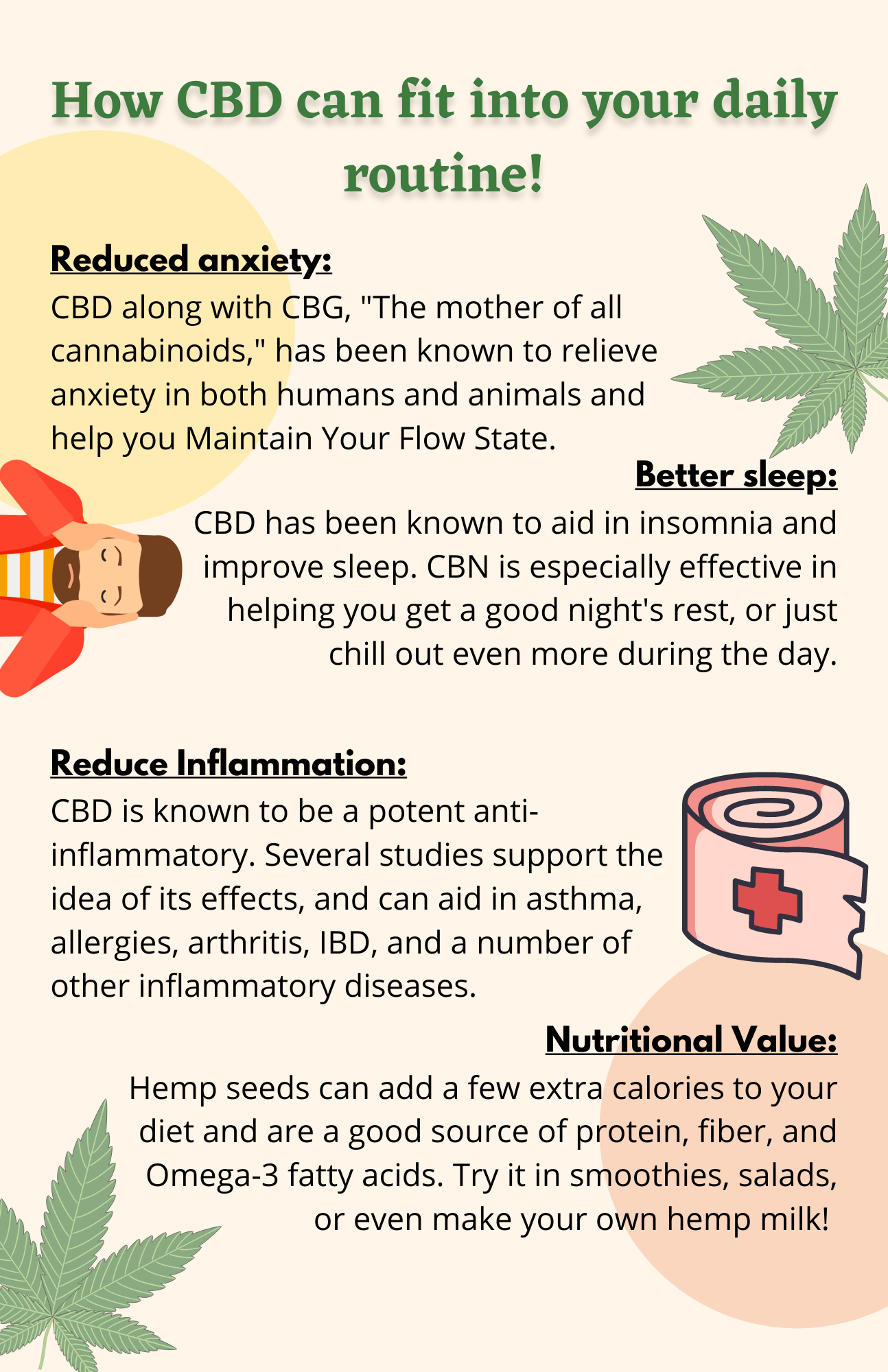 How CBD can fit into your daily routine! (3)